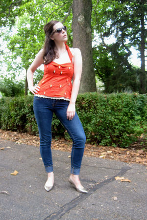 orange Anthropologie top