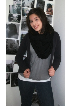 Bershka sweater - American Eagle blouse - American Apparel scarf - American Eagl