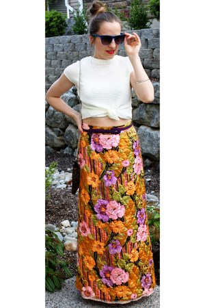 Call it Spring purse - vintage skirt - H&M blouse