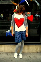 H&M sweater - Zara t-shirt - Gap skirt - Urban Outfitters shoes