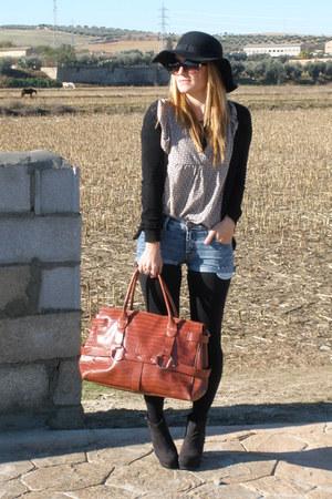 diy Mango jeans - nc Primark shoes - nc Primark hat - old Zara bag