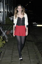 red red vintage skirt - cream glitter Gino Barogge jacket