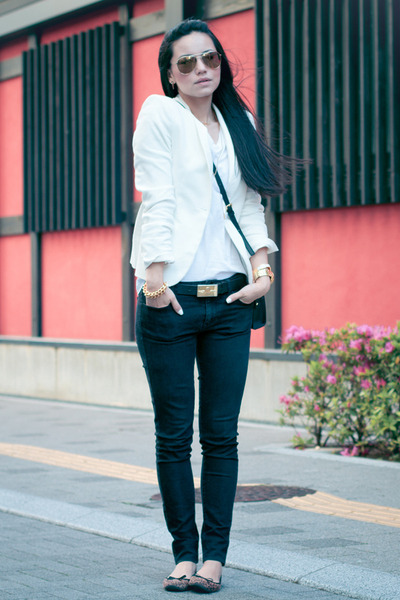 Uniqlo White Jeans Uniqlo Jeans Zara Blazer