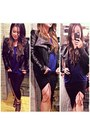 Black-blazer-black-forever-21-skirt-blue-top-black-thigh-chain-accessories