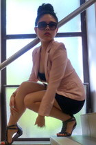 light pink blazer - dior sunglasses