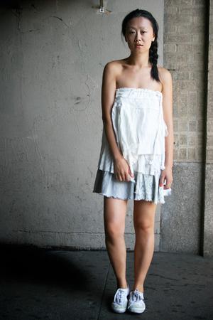 white layered Topshop skirt