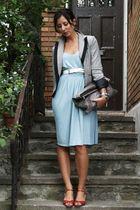 blue Newport News dress - BCBG blazer - Club Monaco purse - vintage shoes - vint