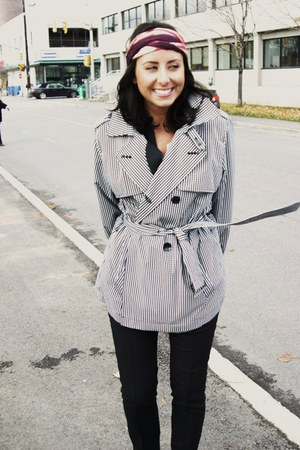 vintage jacket - Zara pants - Spring boots - vintage scarf