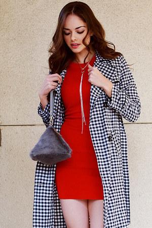 red UrbanOG dress - black UrbanOG coat