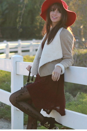 black UrbanOG boots - crimson UrbanOG dress - red UrbanOG hat