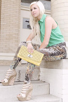 earrings - urban mystique bag - wedges - picnic fun crop top