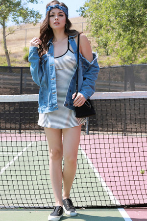 light blue UrbanOG jacket - white UrbanOG dress