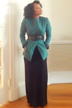 teal H&M blazer - black H&M skirt