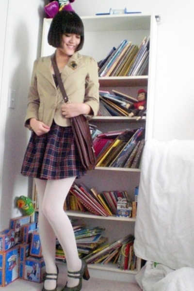 Salvation Army blazer - handmade skirt - payless shoes - Forever21 accessories