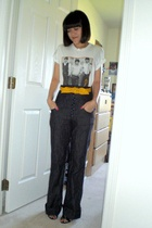 American Apparel shirt - dont know belt - Love Culture pants - Bitten SJP shoes