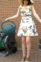 Forever21 hat - Lost and Found Vintage dress - Steve Madden shoes