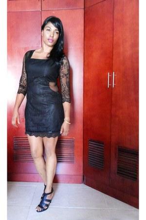 lace cut-out custom made dress - gladiator Nine West heels
