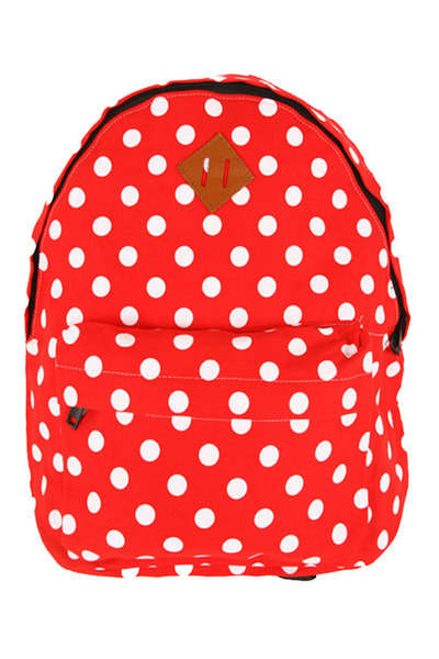 luce alati bags strawberry fields forever red white polkadot