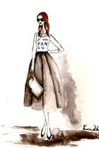 Stradivarius sweater - silver Zara bag - charcoal gray River Island skirt