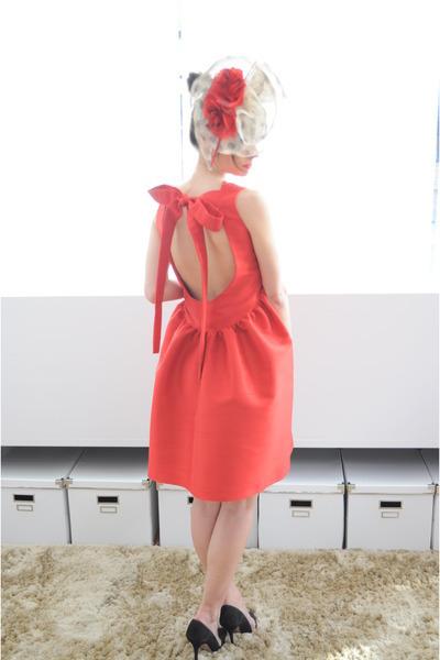 red Boüret dress - red Boüret accessories