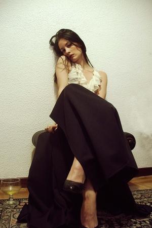 Zara Woman top - vintage skirt - vintage shoes