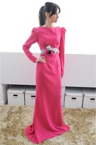 hot pink Boüret dress - hot pink Boüret belt