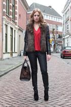 Mango blouse - H&M jacket - Zara bag - New Yorker pants - Nelly heels