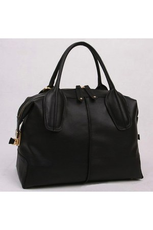 black leather bag bag
