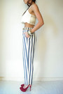Stripe-vintage-pants-tahari-blazer-crop-free-people-blouse