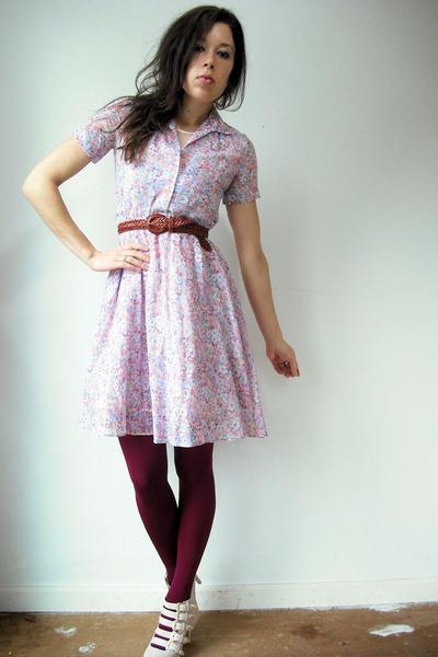 Pink Vintage Dresses, Light Pink Slip Floral Vintage Dresses, Maroon ...