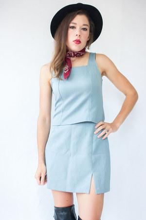 light blue vintage dress