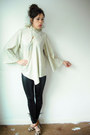 Cream-vintage-sweater-silver-vintage-blouse-black-leggings-nyla-heels