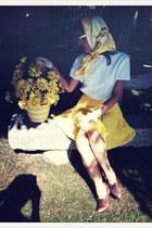 yellow VIRVIN scarf - white VIRVIN gloves - white VIRVIN blouse