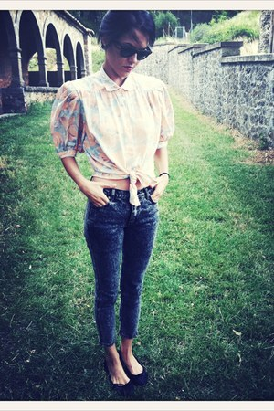 VIRVIN blouse - Cheap Monday jeans - Bimba &amp; Lola flats
