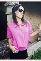 bubble gum VIRVIN shirt - black Primark skirt