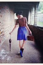 vintage VIRVIN skirt - Uterqe bag - Adolfo Dominguez top - Zara heels