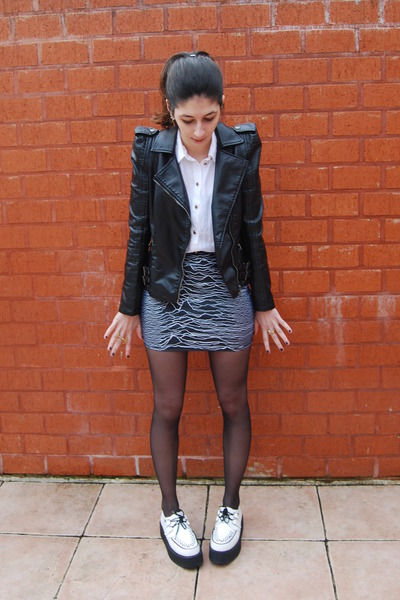 black pulsar skirt Lovelysally skirt - black leather like silvian heach jacket