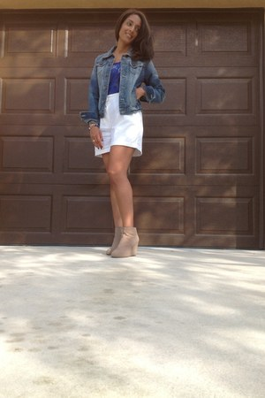 denim Forever 21 jacket - ankle cotton on boots - Nautica shorts