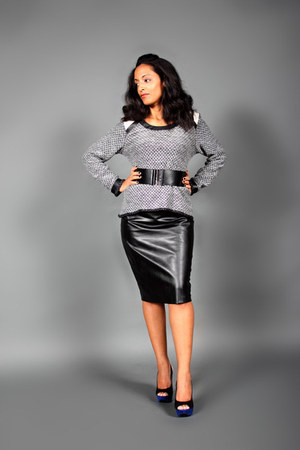 Rendez-Vous sweater - Avenue Montaigne skirt - Forever 21 belt - heels
