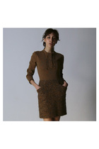 Brown-goeffrey-beene-dress
