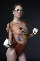 jean paul gaultier shirt - vintage swimwear - Cutler & Gross glasses