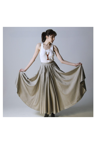 beige maxi skirt jean paul gaultier skirt