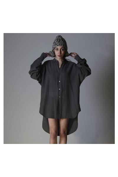 gray Katherine Hamnett top