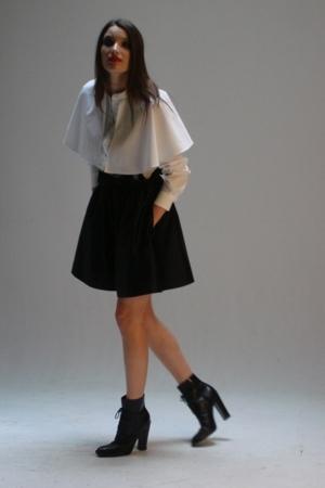 Christian Joy shirt - Vintage Zoran shorts - Jil Sander boots