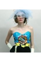 custom made hat - Henri Bendel top - Comme des Garcons skirt