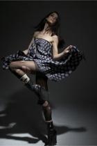 martin margiela dress - Azzedine Alaia shoes