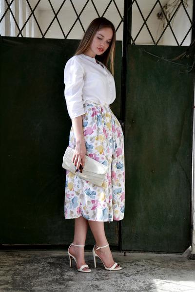 Ebay bag - Zara heels - Incity blouse