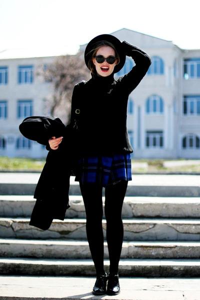Nimbus skirt - next shoes - Topshop hat - Chicorée sweater - Ebay bag