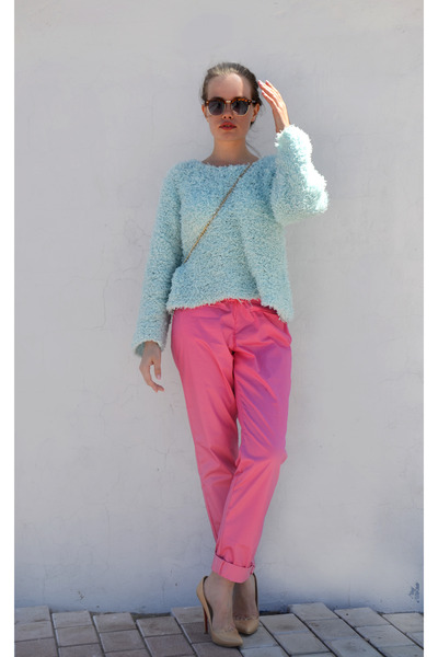 South Lodge sweater - Ebay bag - Ebay sunglasses - SarsaparillaLondon pants
