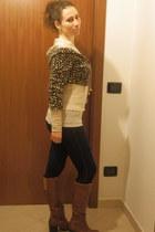 Tally Weijl sweatshirt - Oviesse boots - Calzedonia leggings